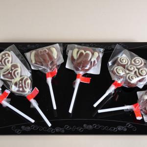 csokoládé nyalókák
